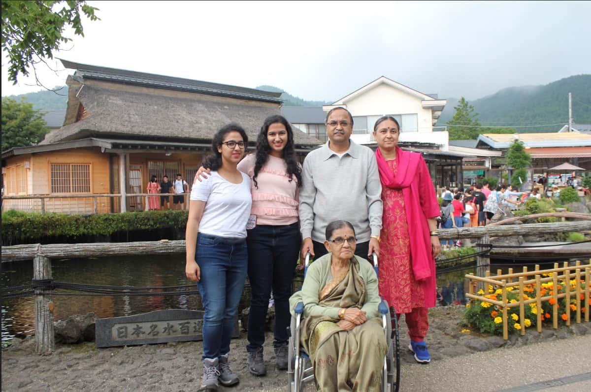 Shalini P Sawkar with her Family